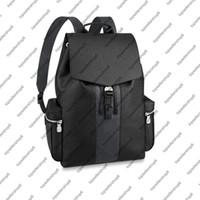 M30417 M30419 ظهره حقيبة جلد البقر حقيقي الكسوف قماش مصمم الرجال السفر الأمتعة حقيبة محفظة حمل الكتف الأشرطة حقيبة