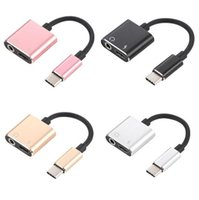 1 충전기 어댑터를 들어 C 형 스마트 폰 삼성 HUAWEI에 3.5mm의 헤드폰 잭 2 C 보조 오디오 케이블 어댑터 USB 타입 C를 입력