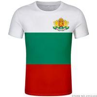 불가리아어 검은 대학 인쇄 사진 의류 BG 불가리아 티셔츠 DIY 무료 사용자 정의 만든 이름 번호 BGR 국가 티셔츠 국가 플래그