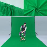 atacado mistura lcotton-poliéster Estúdio Fotografia fundo gota espessa tela verde Screen1.6x3m fundo fotográfico tamanho Personalizar