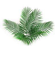 인공 가짜 플라스틱 나뭇잎 녹색 식물 가짜 팜 나무 잎 꽃 꽃에 대 한 녹색 배열 flore 결혼식 장식 GB116