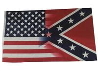 Nuovo 3x5 Ft Bandiera Americana con Confederate Rebel Guerra Civile bandiera nuovo stile di vendita calda 3x5 piede bandiera 30 pz DHL