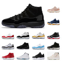 New 11 men women Basketball Shoes high low le 11s Blue Red B...