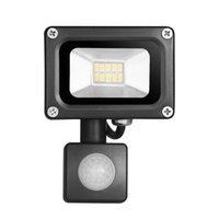 Partihandel-10W 220V 720LM 10LED Sensor LED Flood Light Outdoor Lights SMD 5730 Floodlights for Street Square Highway Wall Billboard Garden