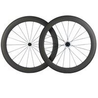T700 60MM العمق الكربون العجلات 23MM العرض الكربون عجلات الدراجة الطريق 700C الفاصلة 3K ماتي البازلت الفرامل الخط