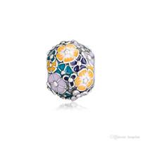 2019 Frühling 925 Sterling Silber Schmuck Klassische Blumenschmuck Charm Beads für Pandora Armband-Halskette für Frauen DIY Herstellung