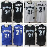 e2c884658e7 Vintage Mens #21 Minnesota Kevin Garnett Timberwolves Basketball Jerseys  Cheap Black White Kevin Garnett Stitched Shirt S-XXL