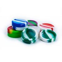 500pcs / lot Non-stick de silicone Jars Dab Wax Container 11ml seco Herb vaporizador 100% FDA Food Grade Slicone frete grátis!