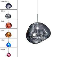 Лава E27 Подвесные лампы освещения Подвесные лампы Северное стекло для декора дома Гостиная Бар Кафе Loft кухни Светильники Hanglamp