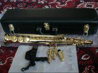 Новый Янагисава S-991 позолоченный саксофона сопрано B (B) Tune B Flat Sax Духовой инструмент с мундштуком Case