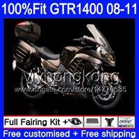 Injectie Gloss Bruin Hot Mold Lichaam voor Kawasaki GTR1400 08 09 10 11 255HM.30 GTR-1400 08 11 GTR 1400 2009 2009 2010 2011 Verkleefkit