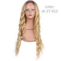 Beautiful Hair Wig Lace frontal Synthetic Wigs Deep Wave Fib...