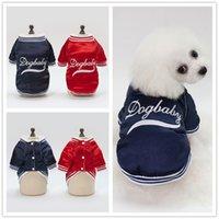 F110 الكلب معطف الشتاء dogbaby كلب القطن الملابس الدافئة جرو البيسبول موحدة 2019 نمط جديد