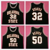 오클라호마 주 카우보이 대학 존 스탁스 # 32 브라이언 리브스 # 50 레트로 농구 저지 남성의 스티치 사용자 설정 숫자 이름 유니폼