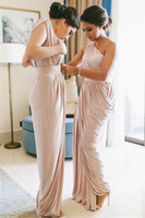 New Arrival Maid Of Honor Dresses Gray One Shoulder Chiffon ...