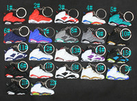 Basketball Shoes Key Chain Rings Charm Sneakers Keyrings Key...