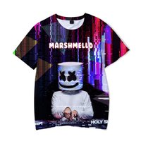 3D Marshmallow Cool Tshirt for Men Teenager Clothing Tees Su...