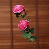 10 PC / Los 65cm Europäische künstliche Blumen-3 Kopf Pfingstrosen-Hochzeit Dekorative für Hauptdekor Peony Silk Rose Kranz Gefälschte Blume Bouquet