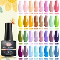 MEET ACROSS 8 ml Gel Nagellack Maniküre Semi Permanent Vernish Top Coat UV LED Gel Lack tränken weg vom Nagel-Kunst-Polnisch