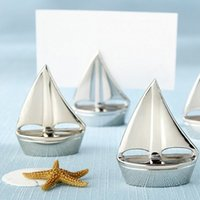 Yelkenli Tekne Gümüş Plaj Tema Yeri Kart Sahipleri Düğün resim adı çerçeve düğün malzemeleri masa numarası kartları klipler