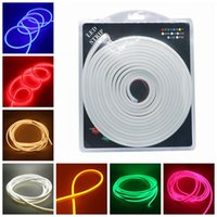 Edison2011 Mini LED Neon Cinta Flexible Luces SMD2835 120LEDS / M DC 12V IP65 6X12mm Silicona Led Neon Strip 5M / Blister