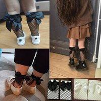 Estate a rete calze bambini Ruffle caviglia delle ragazze del bambino brevi calzini dell'arco della maglia del merletto bambini ragazzona alta ginocchio Calzino a rete di maglia