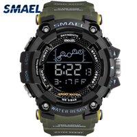 남성 시계 군사 방수 SMAEL 스포츠 시계 육군 남성 1802 디지털 손목 스톱워치를 주도 relogio masculino 시계