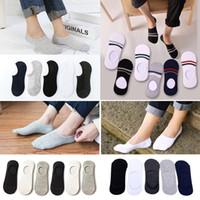 3Pair / Lot Mode Herren Boots-Socken Herbst rutschfeste unsichtbare Cotton Boots-Socken beiläufige bequeme Male Low Cut Ankle Slipper
