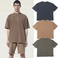 Kanye West Stagione 6 Plain T-Shirt Uomo Donna Hip Hop Streetwear Top Oversize Manica Corta Sport Skateboard Tee04