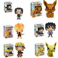 Funko Pop Naruto Uzumaki Naruto Uchiha Sasuke Kyuubi Hout Blad Land van Fire Collection Model PVC Action Figure Kids Toys T200321