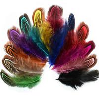 6-10cm piuma del fagiano Tails piume di coda ventilatore per il mestiere di cucito capi di casa della festa nuziale decorazione 100pcs EEA1643