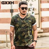 Maniche corte stampato magliette VENDITA CALDA GXXH Oversize Uomo Large Size Maschio Fat Guy estate grande e grosso Mens Tee Abbigliamento XXL-7XL