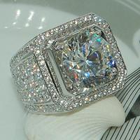 Hiphip Voller Diamanten Ringe Für Herren frauen Top Qualität Fashaion Hip Hop Zubehör Crytal Edelsteine 925 Silber Ring herren Ring