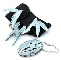 100 stücke Freies Verschiffen Multi Funktion Falten Taschen Werkzeuge Zange Messer Schraubendreher keychain + Fall Gesetztes freies verschiffen