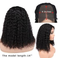 Shows Shine Remy Brazilian Curly Human Hair Lace Wig 4*4 Clo...