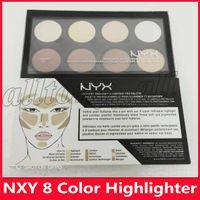 2019 Hot NYX 8 couleurs Sélectionnez Crème Contour Pro Palette Ombre pigmenté surligneur Maquillage de visage Correcteur