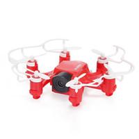 FQ777-126C MINI العنكبوت الطائرة بدون طيار 2MP HD كاميرا 3D لفة مفتاح واحد لعودة الوضع الثنائي 4CH الدوران RC 6Axis Hexacopter - الأحمر