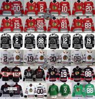 Inverno Clássico Chicago Blackhawks Jersey Hóquei Duncan Keith Jonathan Toews 88 Patrick Kane Corey Crawford Alex DeBrincat Saad Griswold
