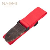 NAOMI Correia Da Guitarra Acessórios Da Guitarra Ajustável Alça de Ombro Acessórios de Instrumentos Musicais de Cor Vermelha Nova