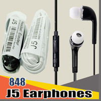 848D J5 3.5 ملليمتر سماعة في الأذن مع تحكم حجم ميكروفون ل htc الروبوت سامسونج غالاكسي S4 S5 S6 S7 S8 ملاحظة 5 Xiaomi الهواتف F-em