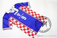 Frete grátis 1998 suker boban prosinecki bilic velho retro camisa de futebol