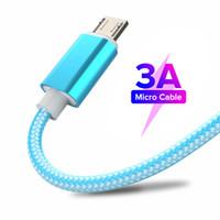 سريع شحن كابلات USB مايكرو USB كابل أندرويد للهاتف المحمول مزامنة كابل شاحن شاحن لسامسونج A7 S7 ل Xiaomi 1M / 2M / 3M Type C