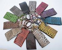 팔찌 체인 가방 FFA3522-2와 13styles 레오파드 지갑 팔찌 키링 라운드 팔찌 여성의 휴대 전화 지갑 클러치 지갑 동전 지갑