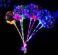 Nova Luzes LED Balões Noite Iluminação Bobo Bola festival Decoração balão de casamento brilhantes decorativa Balões Isqueiro com vara
