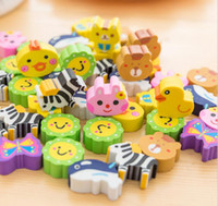 50pcs 귀여운 과일 동물 모양의 사탕 기계 지우개 미니 고무 카와이 학생 편지지 키즈 선물 학교 사무실 보정 용품