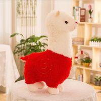 Hot vendendo adorável alpacas pelúcia brinquedos bonito alpacas bonecos dormindo travesseiro presente presente de criança presente