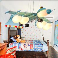 Люстры в детской люстре детская комната комната деко светло-детские самолеты приспособление освещения светодиодные спальни лампа огни дети