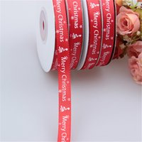 25yards x1cm Satin Ribbon Red Christmas Decoration Packing T...