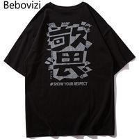 Männer T-Shirts BBOVIZI 2021 Männer Hip Hop T-shirt Chinesischer Druck Harajuku Streetwear Japan Stil Sommer T-Shirt Baumwolle Tops T-Shirts