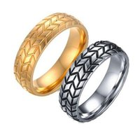 New 13mm Antique Silver Style 316L Stainless Steel Ring Mens...